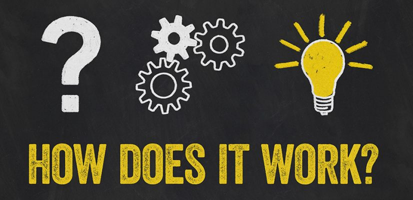 Question Mark, Gears, Light Bulb Concept - How does it work